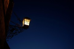 one (Elmar Egner) Tags: biogon2828 zeiss leicacl leica cl night sky bluehour blue lamp scenery