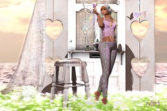 Dancing in the sun (Varosh Santanamiguel) Tags: swank tlg event driftwood fantasy fantasyfair rlf driftwoodevent swankevent exclusive swankco uzme air gacha rare backdrop model mesh bento bentopose pose female fashion boho style thelookingglass dreaming love butterfly beautiful dancing blog blogging photoshop photo art passion sweet cute new newrelease release 2019 april summer daisies garden secondlife avatar gimp