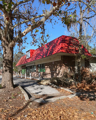 Abandoned convenience store in an untidy area. (Tim Kiser) Tags: platanusoccidentalis sunny alachuacounty americansycamore floridastateroad26 northflorida img8737 northcentralflorida florida florida24 gainesvilleflorida 2017 sycamoretree fallenleaves wintersun palms brick northwest9thterrace northwestninthterrace deadpalms floridastateroad24 brickbuilding december curbs platanus universityavenue winter alachuacountyflorida formerconveniencestore fallleaves december2017 vacantstore abandonedconveniencestore gainesville abandonedbuilding westuniversityavenue treewithspanishmoss spanishmossinwinter leaves vacantconveniencestore spanishmoss newyearseve tillandsiausneoides sycamore tillandsia 20171231 red sycamoreleaves autumnleaves redroof florida26 abandonedstore northernflorida