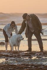 IMG_7943 (armadil) Tags: mavericks beach beaches californiabeaches us usatsunset dog whitedog pyreneesdog
