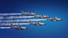 Aerobatics formation (Kostas Karageorgiou) Tags: athensflyweek tanagra airplanes athens fly week ef100400mm f4556l is ii usm canon eos 5d mark iv greece formation aerobatics orlik aerobatic team pzl130 polish air force command college smoke clouds sky pilot