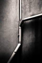 Untitled (LoKee Photo) Tags: lokee monochrome black white fine art walls pipes geometry urban sigma dp2m italy catania