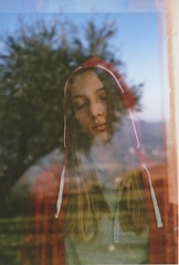 musa (chiara ...) Tags: girl portrait colors window film 35mm olympus om1 fuji superia 100asa expiredfilm
