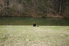 Fisherman (sebastienvillain) Tags: switzerland suisse fujifilm fuji xe2 xseries fisherman pecheur nature xf18mm