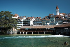 Thun (sebastienvillain) Tags: switzerland suisse fujifilm fuji xe2 xseries thun town ville river riviere xf18mm