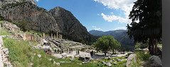 Delphi A6507544 Panorama over the steep hillside Apollo Temple site (Recliner) Tags: oracle pytho mountparnassus