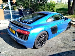 Audi R8 V10 (benoits15) Tags: audi r8 v10 german blue bleu car avignon festival