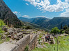 Delphi A6507532 The temple is on a steep south-western slope of Mount Parnassus, overlooking the valley of Phocis (Recliner) Tags: oracle pytho mountparnassus
