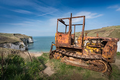 On the Cliff Tops (freyjad1706) Tags: blip flaboroughhead tractor cliffs dereliction sea