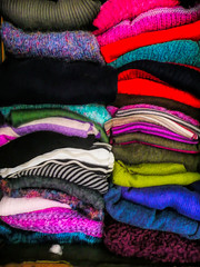 Sweaters (Durley Beachbum) Tags: 2019 weekly alphabet challenge 16 pile sweaters clothes