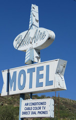 Belle-Aire Motel (1 of 2) (jimsawthat) Tags: smalltown globe arizona motel vintagemotel plasticsign neon metalsign vintagesign