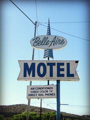 Belle-Aire Motel (2 of 2) (jimsawthat) Tags: smalltown globe arizona motel vintagemotel plasticsign neon metalsign vintagesign