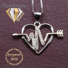Collection Vénus - Pendentif battements de coeur (olivier_victoria) Tags: argent 925 pendentif coeur chaine amour infini or rose plaque vénus collection battement