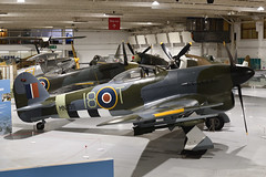 Hawker Typhoon 1B (MN235) (Bri_J) Tags: rafmuseum hendon london uk museum airmuseum aviationmuseum nikon d7500 aircraft hawker typhoon mn235 hawkertyphoon strikeaircraft rockets wwii raf ddaystripes