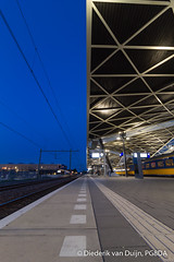 Tilburg train station (PG8DA) Tags: canon 1100d tilburg noordbrabant northbrabant nederland netherlands train station bluehour architecture urban