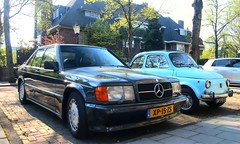 Mercedes-Benz 190E 2.3-16V Cosworth / Fiat 500 Nuova (Skylark92) Tags: nederland netherlands holland northholland noordholland amsterdam zuid south mercedes benz 190 e 190e 23i 16v cosworth xp15zs 1985 23 2316v fiat 500 nuova dh9031 1968