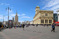 Three stations square, Moscow (Michael Erhardsson) Tags: leningradsky railwaystation station building city urban architecture russia moscow summer travel destination ryssland resa 2018