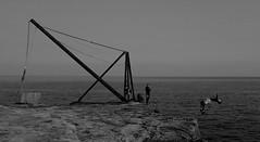 Backflip (rwbthatisme) Tags: backflip cliff diving sea portland dorset fujifilm x100f monochrome