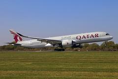 A7-ALQ Airbus A350-941 Qatar Airways MAN 19APR19 (Ken Fielding) Tags: a7alq airbus a350941 qatarairways aircraft airplane airliner jet jetliner