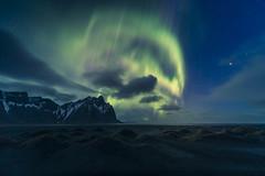 An appointment with the aurora (Sizun Eye) Tags: auroraborealis aurora vestrahorn stokksnes night northernlights north lights landscape happyeaster sizuneye nikon1424mmf28 d750 nikond750