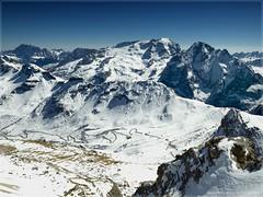 Still Winter at the Dolomites (Maximilian Busl) Tags: canazei trentinoaltoadige italien marmolada winter snow mountains sky blue dolomites hasselblad