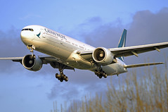 Cathay Pacific 777-300ER (Infinity & Beyond Photography: Kev Cook) Tags: cathay pacific airways airlines boeing 777 777300 777300er b777 aircraft airplane airliner london heathrow airport lhr myrtle avenue ave photos planes