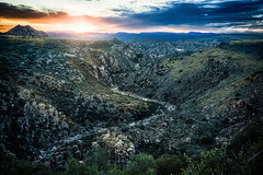 Warm Spring Canyon Sunset (Kyle French) Tags: arizona az sunset landscape desert river sky clouds
