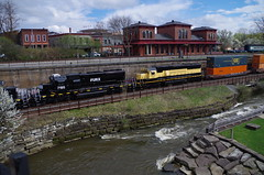 Q292 149 (Fan-T) Tags: erie q292 csx furx gmtx susquehanna nysw kent ohio cuyahoga river station treno