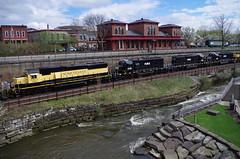 Q292 142 (Fan-T) Tags: erie q292 csx furx gmtx susquehanna nysw kent ohio cuyahoga river station treno