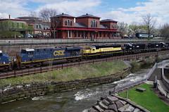 Q292 139 (Fan-T) Tags: erie q292 csx furx gmtx susquehanna nysw kent ohio cuyahoga river station treno
