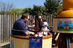 Molly's first amusement park ride (timnutt) Tags: parkland xt2 northampton northamptonshire wicksteedpark children child people fuji 35f2wr park toddler 35mm fujifilm kettering