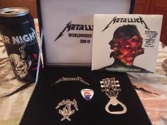 Metallica Unforgiven Package Swag (bradye21) Tags: metallica concert albany ny newyork swag unforgiven package unforgivenpackage worldwired tour 2018 enternight beer hardwiredtoselfdestruct cd hardwired self destruct pin keychain necklace bottleopener metal