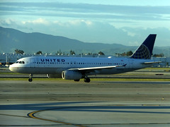 UAL_A320_N496UA_ONT_03082019 (CardCollector2014) Tags: california ontario kont ont united airlines airport airbus a320 narrow body jet flying runway