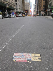 2019 Rien - Cowboy Profile With Keys House of Hades 6522 (Brechtbug) Tags: 2019 rien cowboy profile with keys house hades toynbee tile broken up 54th street 7th ave new york city plus colossus roads brakeman brush in surrealville 2018 fill the ford art artist mosaic parts part shattered smashed jumbled black top asphalt 04202019 nyc cow boy caricature seventh avenue fifty forty