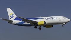 N811TJ_MIA_Landing_9 (MAB757200) Tags: swiftair b737306f n811tj aircraft airplane airlines airport jetliner freighter cargo boeing landing mia kmia runway9