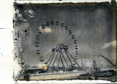 Pepsi - New55 print (thereisnocat) Tags: new55 speedgraphic instant ferriswheel pepsi rollercoaster boardwalk beach shore oceancity maryland md roidweek roidweek2019 positive
