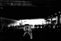 S0182043B Urban space (soyokazeojisan) Tags: japan osaka city street light people bw blackandwhite monochrome digital fujifilm xq2 2019