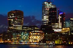 City of London by night (jamesdavidboro2) Tags: london night river thames north bank sony nex takumar vintage lens m42 pentax f3 gb city buidings neon