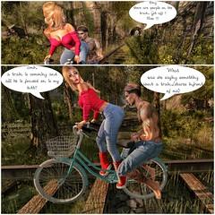 train tracks (Alla Darkwolf) Tags: photography art fun couples love train bike nature danger trouble