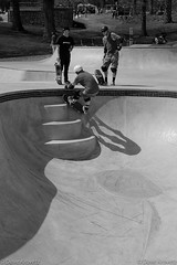 Shadows (davekrovetz) Tags: skatelife skate skateboard skatepark charlottesville bnw monochrome fuij x100t athetics sports athlete shadow