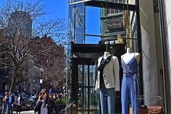 Two Mannequins (AntyDiluvian) Tags: boston massachusetts backbay newburystreet store shop window fashion design mannequin