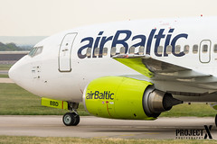 Air Baltic - Boeing 737-53S - YL-BBD - Aberdeen Airport (paulstevenchalmers) Tags: abz aberdeen airport aircraft boieng 737500 500 series aberdeenairport baltic riga