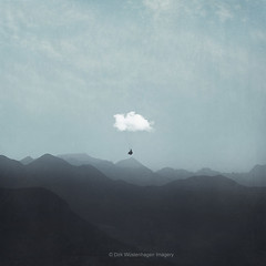 cloud gliding (Dyrk.Wyst) Tags: switzerland atmosphere calm haze landscape monochrome mood morning mountains nature ontheroad outdoors pastel peaceful sunrise travel wanderlust westend61 vorschlag cloud paraglider surreal poetic bluetones minimal