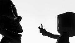 Deathlive (julentxiox) Tags: figure skull child abstract white black light action cinematographic film