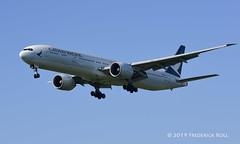 Cathay Pacific B777 ~ B-KPT (© Freddie) Tags: londonheathrow poyle heathrow lhr egll 09l arrivals cathaypacific boeing b777 b773 bkpt fjroll ©freddie