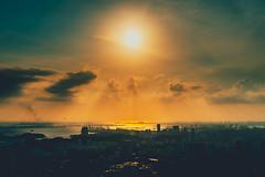 Singapore (jevenphoto) Tags: singapore 新加坡 sunset 日落 city t6g4 城市 bay harbor 港口 船