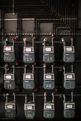 Industrial Beauty (pbuschmann) Tags: americanmetercompany ac250 gas meter industrial pipes beauty numbers la