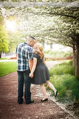 Leaning in Under the Blossoms (Laura K Bellamy) Tags: engagements engaged love couple portraits