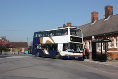 Tendring Travel at Manningtree (Chris Baines) Tags: tendring travel dennis trident plaxton president usc rail replacement manningtree x598