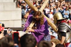 Passion Of Jesus play in Trafalgar Square on Good Friday - 112 (D.Ski) Tags: jesus passionofjesus play trafalgarsquare openair nikon nikond700 200500mm london england wintershall goodfriday easter